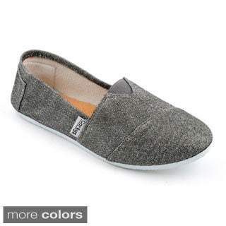 Corkys Women's Slip On Glitter Sues