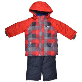Carter's Boy's Fleece Lined Hooded 2-pc Snowsuit