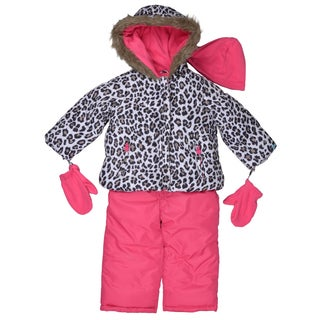 Carter's Girl's Hooded Faux Fur Trim Snow Suit Set
