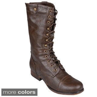 Madden Girl by Steve Madden Women's 'Gizmoo' Lace-Up Mid-Calf Combat Boots