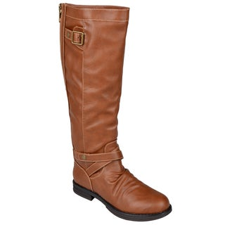 Madden Girl by Steve Madden Women's 'Zuzu' Back Zipper Faux-Leather Riding Boots