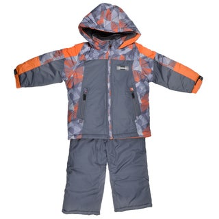 London Fog Boy's Raglan Print Two-Piece Gray Snowsuit