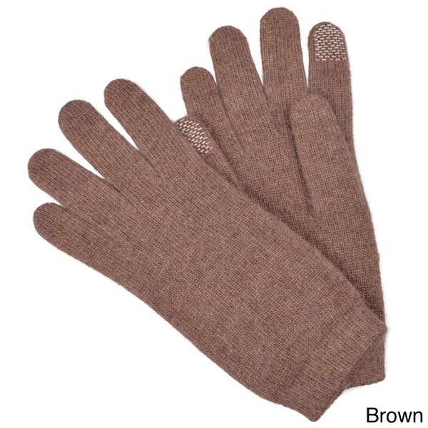Portolano Women's Touch Screen Wool Blend Gloves