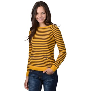 Journee Collection Junior's Striped Dolman Sleeve Sweater