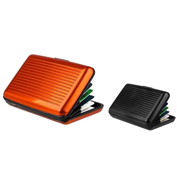 Zodaca Orange/ Black Aluminum Business Card Phone Case Cover