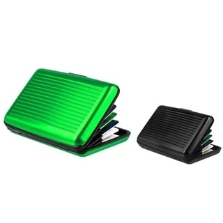 Zodaca Green/ Black Aluminum Business Card Phone Case Cover