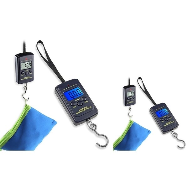 INSTEN 10g-40kg LCD Digital Hanging Luggage Fishing Weight Scale (Pack of 2)