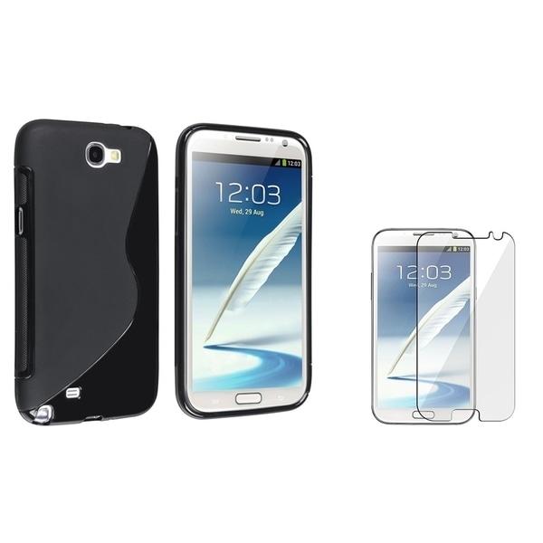 BasAcc TPU Case/ Anti-glare Protector for Samsung Galaxy Note II N7100