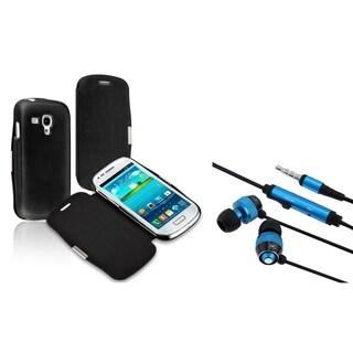BasAcc Headset/ Leather Case for Samsung Galaxy S III Mini I8190