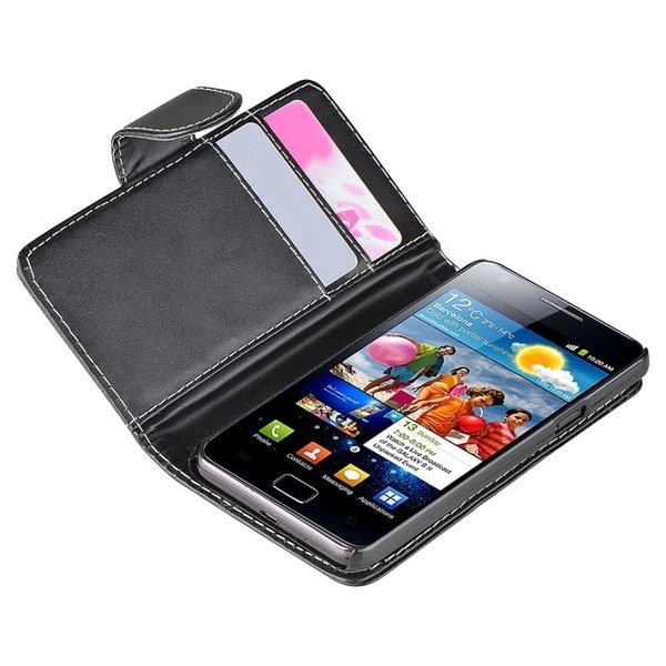 BasAcc Wallet Case/ Screen Protector for Samsung Galaxy S 2 GT-i9100