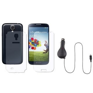 INSTEN Car Charger/ Full-body Protector for Samsung Galaxy S IV/ S4