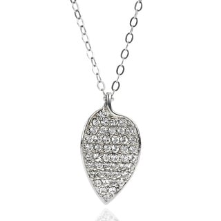 Elle Sterling Silver Cubic Zirconia Leaf Necklace