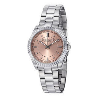 Stuhrling Original Women's Lady Marine Stainless Steel Swiss Quartz Bracelet Watch