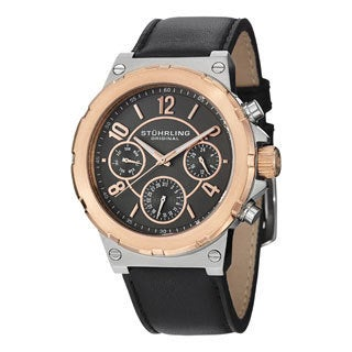 Stuhrling Original Men's Sirocco Water-resistant (MM0901) Leather-strap Quartz Watch