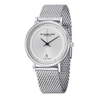 Stuhrling Original Men's Casatorra Elite Silver Swiss Quartz Bracelet Watch