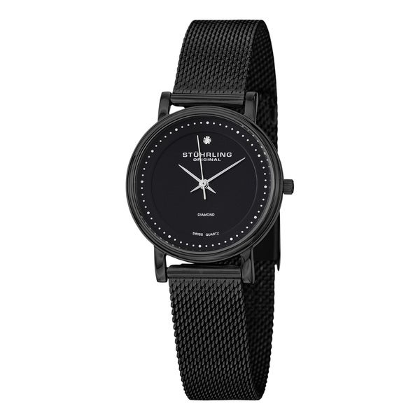 Stuhrling Original Women's Lady Casatorra Elite Black Swiss Quartz (Ronda 515) Bracelet Watch