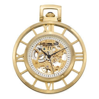 Stuhrling Original Men's Ancestor Gold Mechanical Pocket Watch