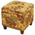 Tufted Brown/ Tan Chenille Storage Ottoman