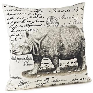 Rhinoceros Design 18-inch Throw Down Fill Pillow