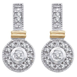 10k White Gold 1/10ct TDW Diamond Fashion Earrings (H-I, I3)