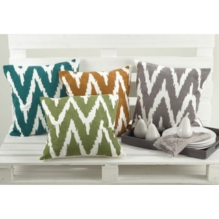 17x17-inch Square Chevron Print Down-filled Throw Pillow