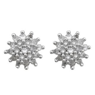 10k White Gold 1/5ct TDW Diamond Fashion Earrings (H-I, I3)