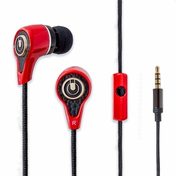 Oblanc Stereo Heavy Bass In-ear Headphones Headset with Mic Red