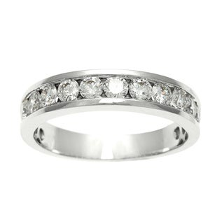 Women's 18k White Gold 1 CT TDW Diamond Wedding Band (E-F, SI2)
