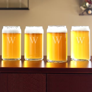 Personalized Craft Beer Can Glass