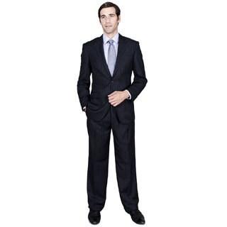 Navy Stripe 2-Button Suit