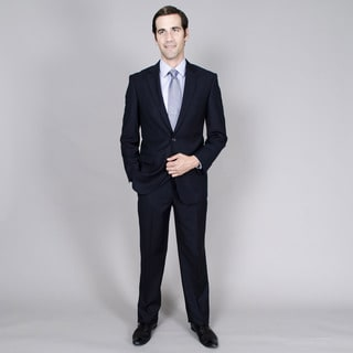 Men's Navy Tone-on-Tone 2-button Suit