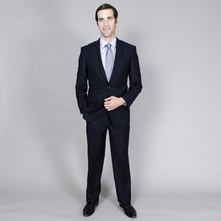 Giorgio Fiorelli Men's Navy Tone-on-Tone 2-button Suit