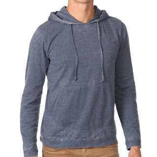 191 Unlimited Men's Blue Burnout Hoodie