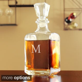 Custom Engraved Contemporary Whiskey Decanter