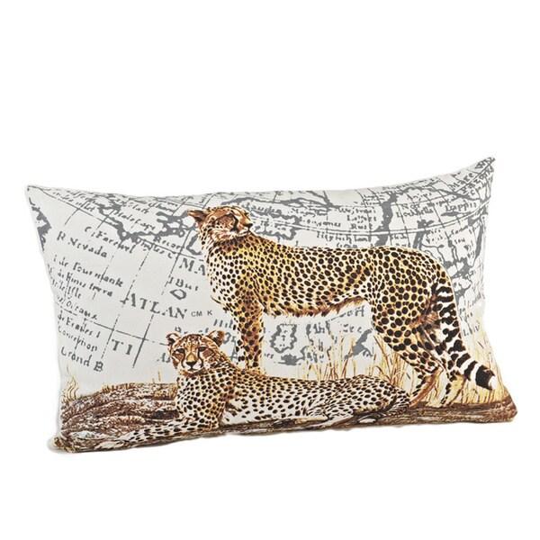 Cheetah Down Filled Design Down Fill Pillow
