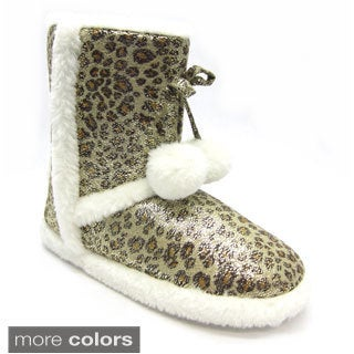 Blue Women's Mimi Leopard Slipper Booties