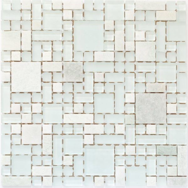Martini Mosaic 12x12 Enigma Tranquility Tile (Pack of 6)