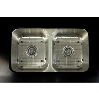 Undermount Stainless Steel 31-inch Double Bowl Kitchen Sink Combo