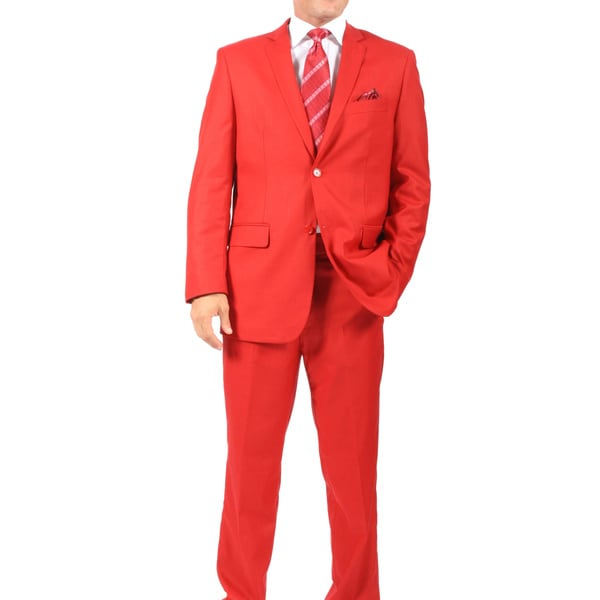 Ferrecci's Two Piece Two Buttom Red Suit