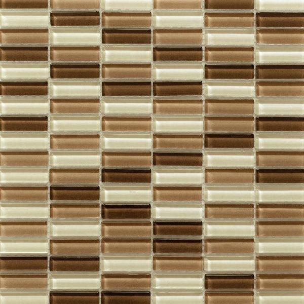 Martini Mosaic 12x11.75 Aria Cafe Mocha Tile (Pack of 10)