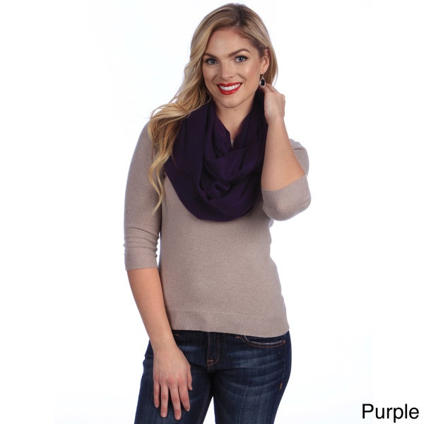 KC Signatures Solid Infinity Scarf