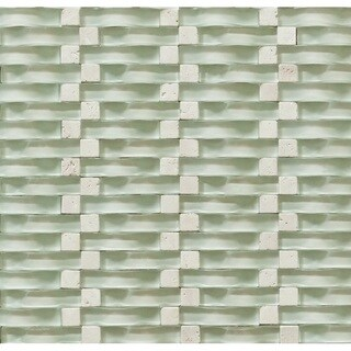 Martini Mosaic 12x12 Vento Mystic Sea Tile Sheets (Pack of 5)