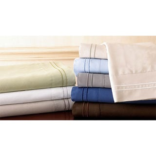 Hotel Stripe Microfiber Sheet Set