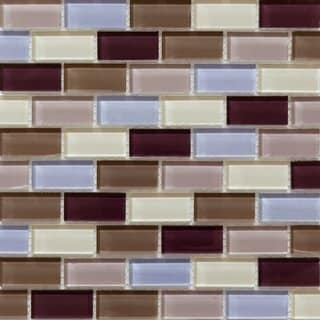 Martini Mosaic 11.75x11.75 Essen Berry Wine Tile Sheets (Pack of 10)