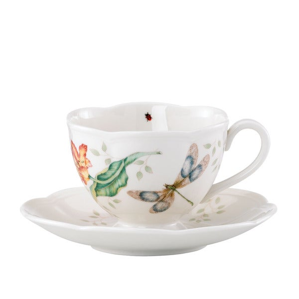 Lenox Butterfly Meadow Dragonfly Cup and Saucer 11974609