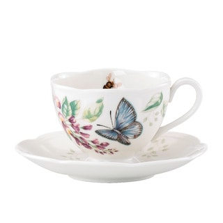 Lenox Butterfly Meadow Blue Butterfly Cup and Saucer