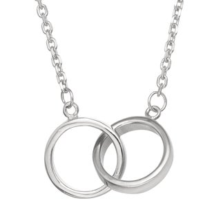 Gioelli Sterling Silver Interlocking Rings Necklace