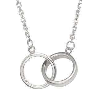 Gioelli Michelle Lee Sterling Silver Interlocking Rings Necklace