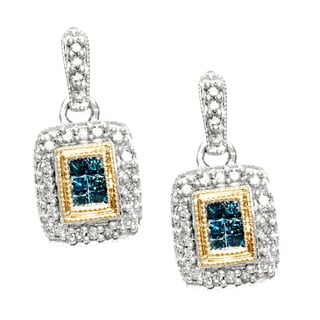 14k Two-tone Gold 1/2ct TDW Diamond Earrings (H-I, I2)