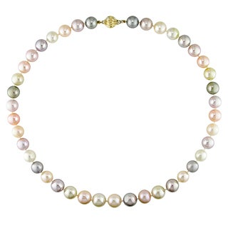 Miadora Signature Collection 14k Yellow Gold South Sea, Tahitian and Freshwater Pearl Necklace